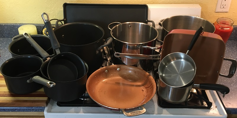 My pots, pans, and skillets